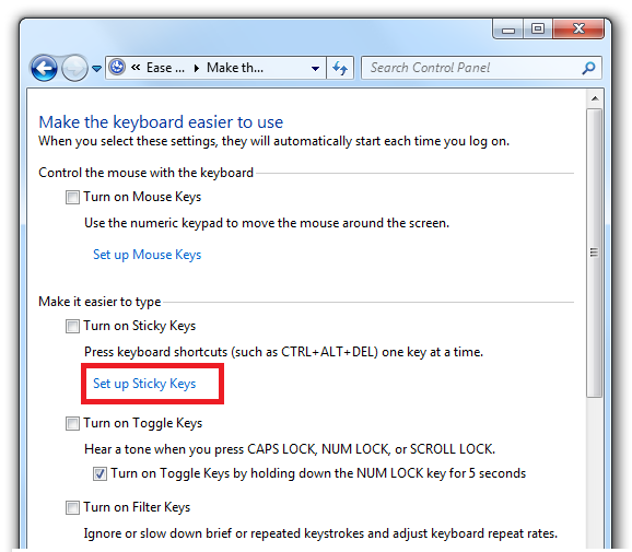 How to Turn Off Sticky Keys in Windows - Virus and Malware News