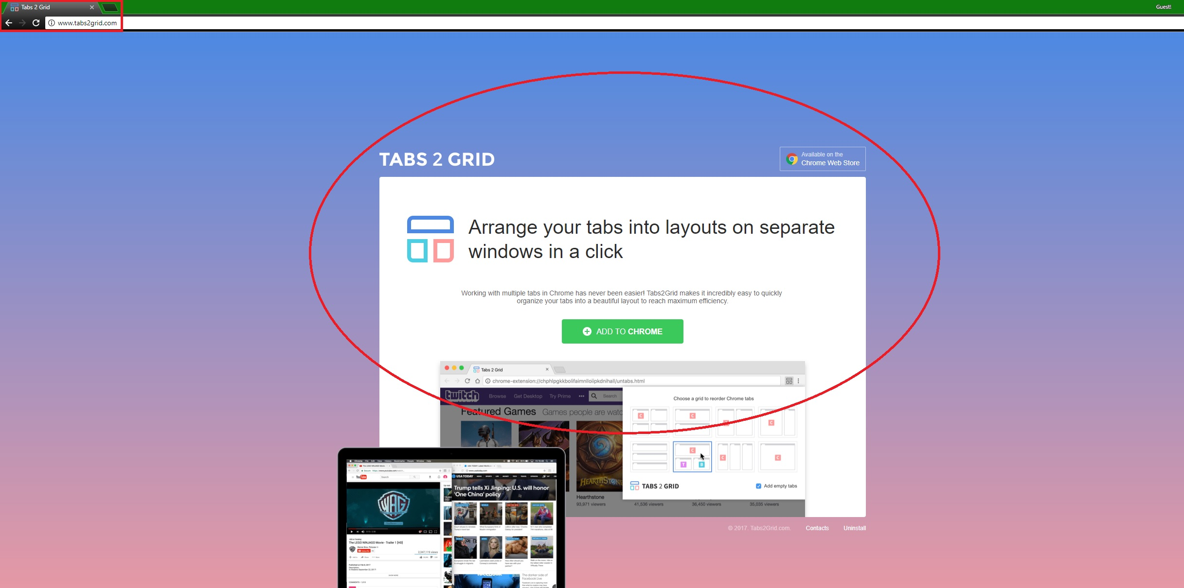 How to Remove Tabs 2 Grid Chrome/Firefox/IE